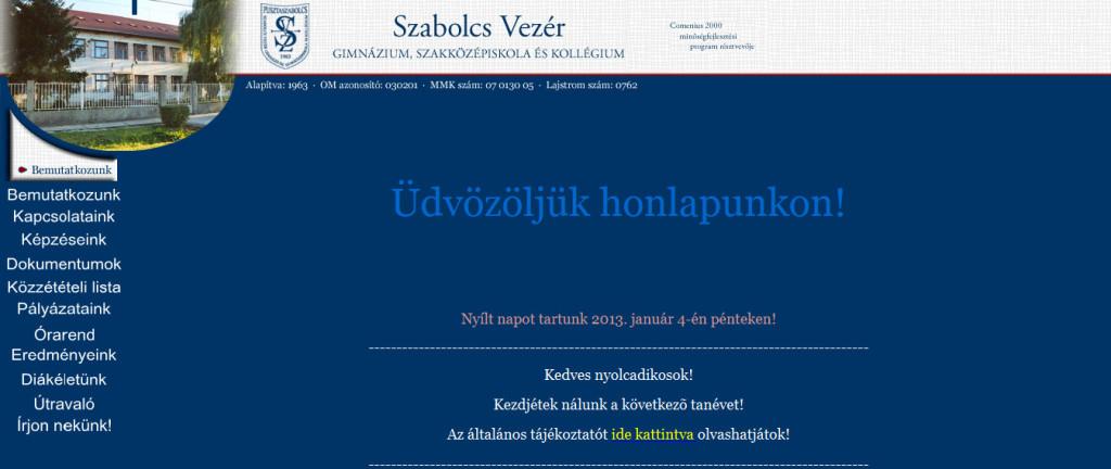 Szabolcs Vezér Gimnázium, Szakközépiskola és Kollégium